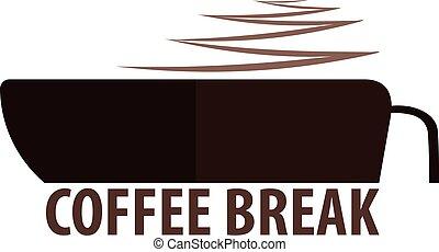 drink., caffè, illustrazione, vettore, kitchen., logotipo