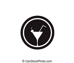 Drink caffe cup Logo Template vector icon design