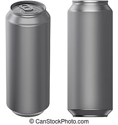 Drink can 500 ml - 3D computer illustration on white...