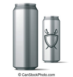 Vector illustration of an aluminum drink can