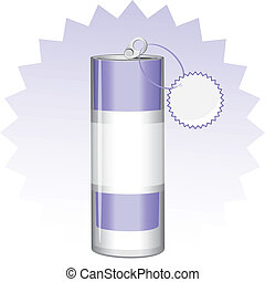 Drink can with tag