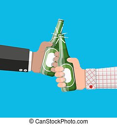 drink., cerveza, vidrio., alcohol, botella