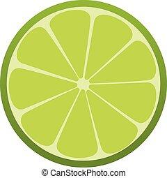 drink., citrus., すがすがしい, ベクトル, 緑, icon., ライム, illustration.
