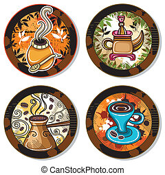 drink coasters 4 - Grunge collection of drink coasters -...
