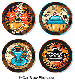 drink coasters 4 - Grunge collection of drink coasters - ...