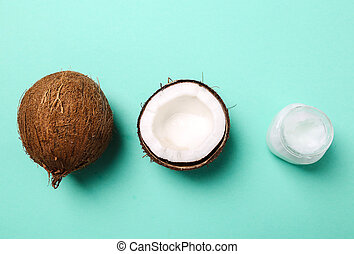 Coconut - Drink. Coconut on the table