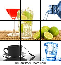 drink, collage