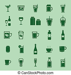 Drink color icons on green background