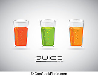 Drink design over gray background, vector illustration