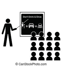 drink driving - Man giving lecture on the dangers of drink...