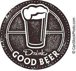 Drink Good Beer Bar Stamp