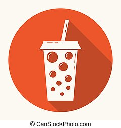 Drink icon. Button. Vector illustration