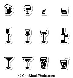 Drink Icons as Labels