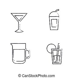 Drink Icons Draw