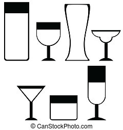 Drink icons - Illustration icons for different types of...