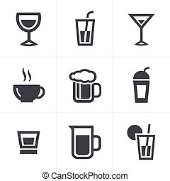 Drink  Icons Set, Vector Design