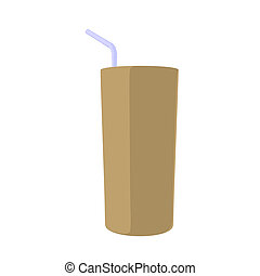 Drink Illustration - Drink with a straw illustration on a...