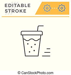 Drink line icon