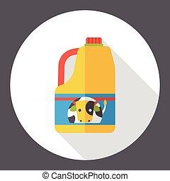 drink milk flat icon