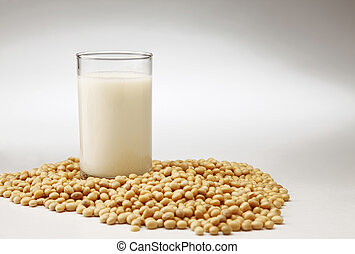 drink - stock image of the glass of the soybean drink