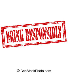 Grunge rubber stamp with text Drink Responsibly, vector illustration