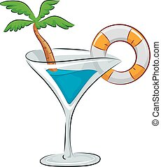 Drink Spring Break Party Garnish - Illustration of a...