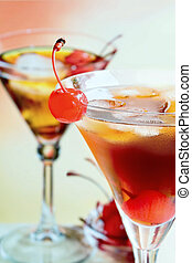 Drink - Summer alcoholic recreational drink with mint and ...