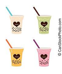 Drink Tapioca Bubble Tea Cups