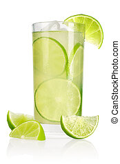 Drink with lime and ice