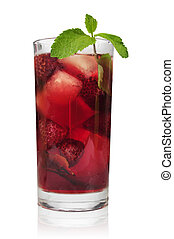 Drink with raspberry