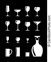 drinkende glazen, vector