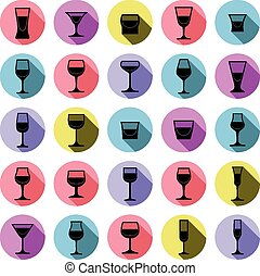 drinkende glazen, verzameling, martin