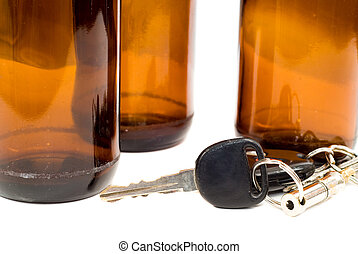 Drinking And Driving Concept - Concept image of drinking and...