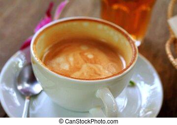 Drinking coffee vintage