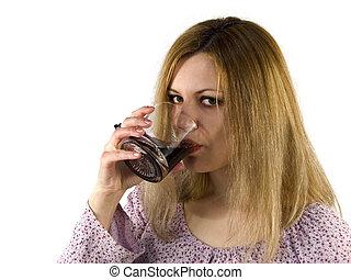 Drinking girl - Drink blondie girl