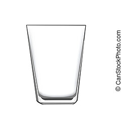drinking glass - an empty drinking glass, for concept or...