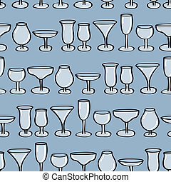 Drinking Glasses Seamless Backgroun