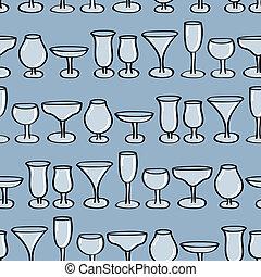 Drinking Glasses Seamless Backgroun
