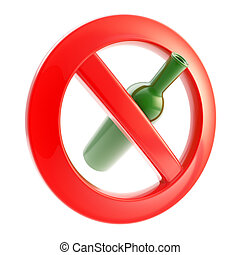 Drinking is not allowed forbidden sign