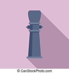 Drinking pillar icon, flat style