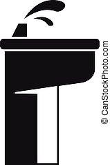 Drinking pillar icon, simple style