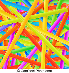 Drinking straw background - Drinking straw colorful abstract...
