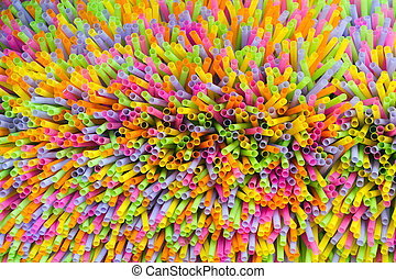 drinking straw background - dynamic view of colorful...