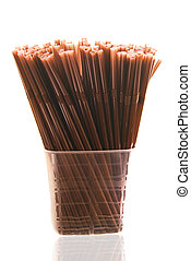 Drinking straw brown