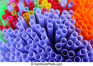 Drinking straw - Colorful of drinking straw background