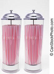 Drinking Straw Dispenser - Two drinking straw dispensers...