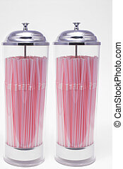 Drinking Straw Dispenser - Two drinking straw dispensers...