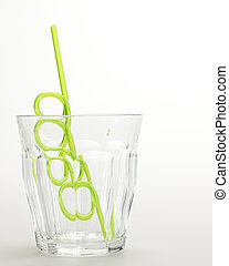 Drinking Straw in Glass
