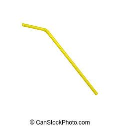 drinking straw isolated on white background.