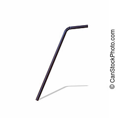 drinking straw isolated on white